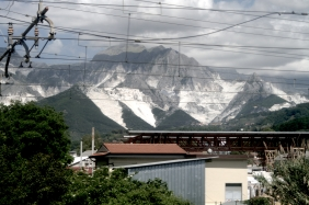 May 17 - Carrara marble mines from Rome train